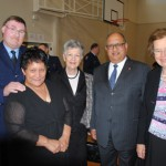 L-R, Merv Neil, wife Alice Williams, Lady Susan Satyanand, Hon Sir Anand Satyanand, Dame Margaret Bazley