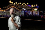 Clive Hart's ornate Christmas lights from last year, which will light up again this Saturday (Photo: Waikato Times)