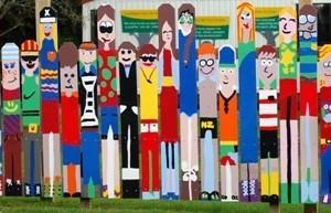 Colourful folk brightening the school neighbourhood