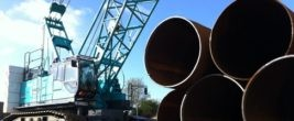 Pile driving for the East-West bridge at Cherry Lane is expected to take up to eight weeks.