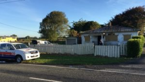 Arson is suspected in a fire in the boarded up house in Tamahere Drive