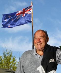 A proud Rex Pickering (Photo: Mark Taylor, Waikato Times)