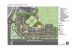 A concept plan of the proposed Tamahere village centre