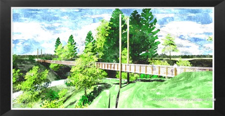An artists impression of the Alan Turner Memorial Bridge