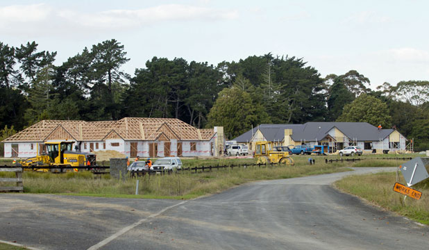 The Hart Rd houses - for students or large families? (Photo: Brucer Mercer, Waikato Times)