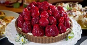 Punnet's Strawberry Tart - recipe below (Photo: Bruce Mercer,  Waikato Times)