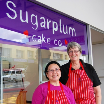 Sweet as. New bakery owners Raewyn Koppens (right) and Rosita General