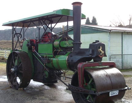The Aveling-Porter steam roller is rolling back to Tamahere