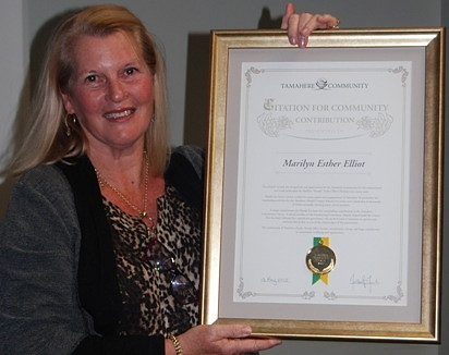 Tamahere stalwart Mandy Elliot with her recently awarded certificate