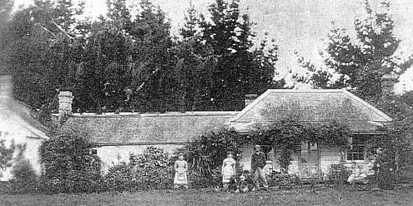 The Wartle homestead in 1881