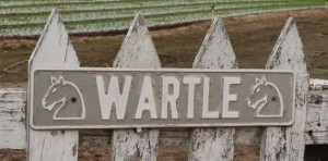 The last sign of the once grand Wartle estate of Tamahere