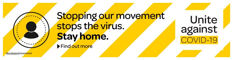 Stopping movement stop sthe virus. Stay home.
