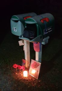 An ANZAC letterbox memorial