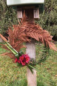 Letterbox ANZAC wreath