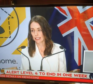 PM Jacinda Ardern announcing the move to Alert level 3