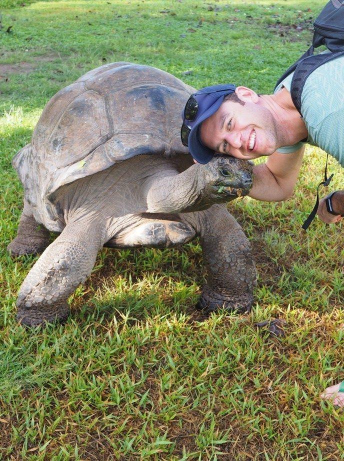 Charlie Stewart with a new friend