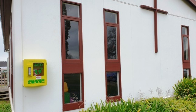 AED 24/7 at St Stephen's Church, Tamahere Dr.